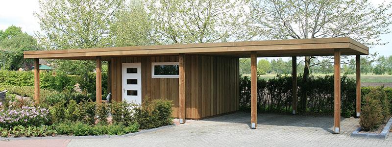 Houten carport - Gommers Houtbouw