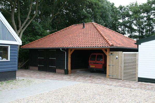 Garage Met Veranda : Garage carport berging en veranda gommers houtbouw